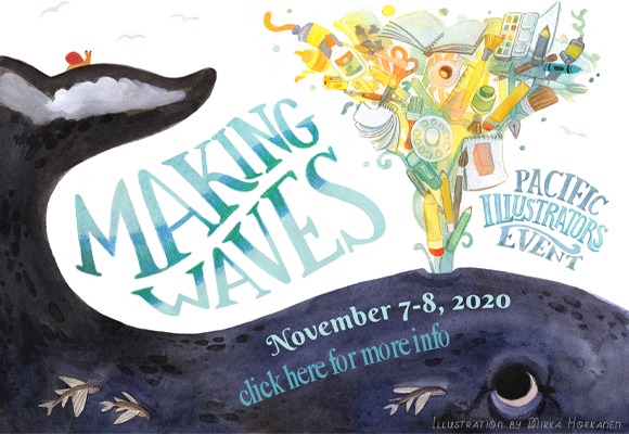 Alaska and Hawaii SCBWI join forces to bring illustrators Making Waves: a Pacific illustrator event on November 7-8, 2020