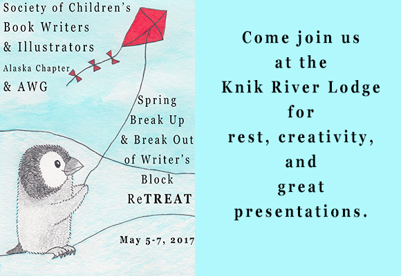 Come join us at the Knik River Lodge in Palmer the weekend of May 5-7, 2017.  There will be rest, creativity, and great presentations.  Stay overnight or simply drive to join us every day.  You can find more info here.